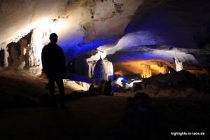 Tropfsteine in der Kong Lor Höhle