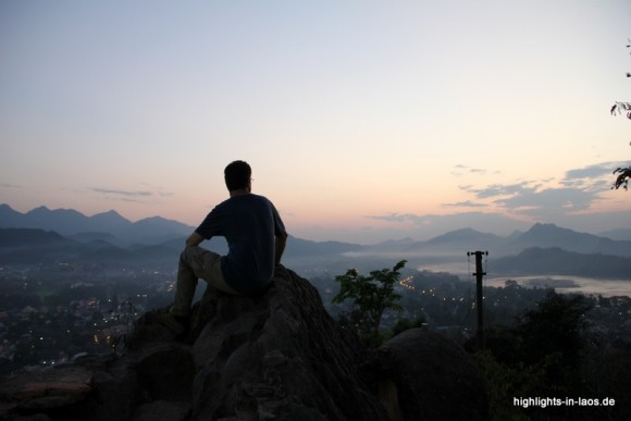 Innehalten: Sicht über Luang Prabang