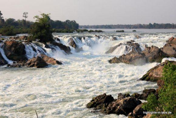 die Mekongfälle bie den 4000 Islands
