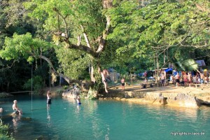 Blaue Lagune bei Vang Vieng